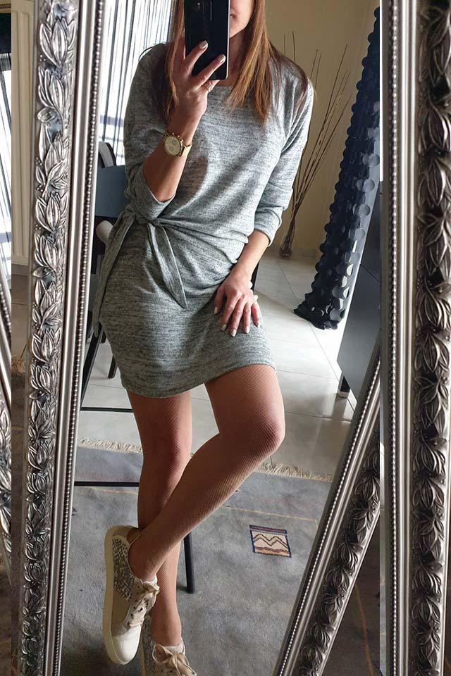 Waist Belt Knit Dress