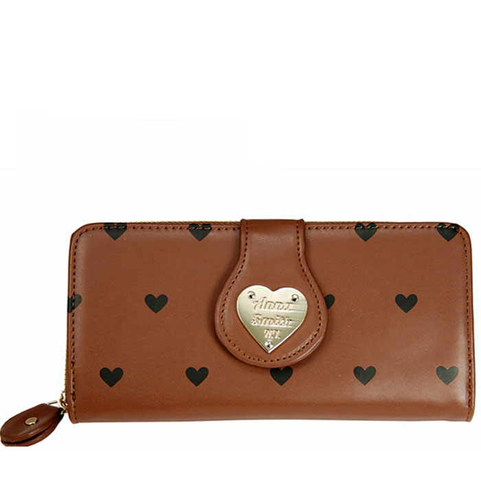 Heart Print Zip Wallet αξεσουαρ   πορτοφόλια