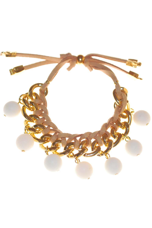Handmade Chain & Leather Bracelet