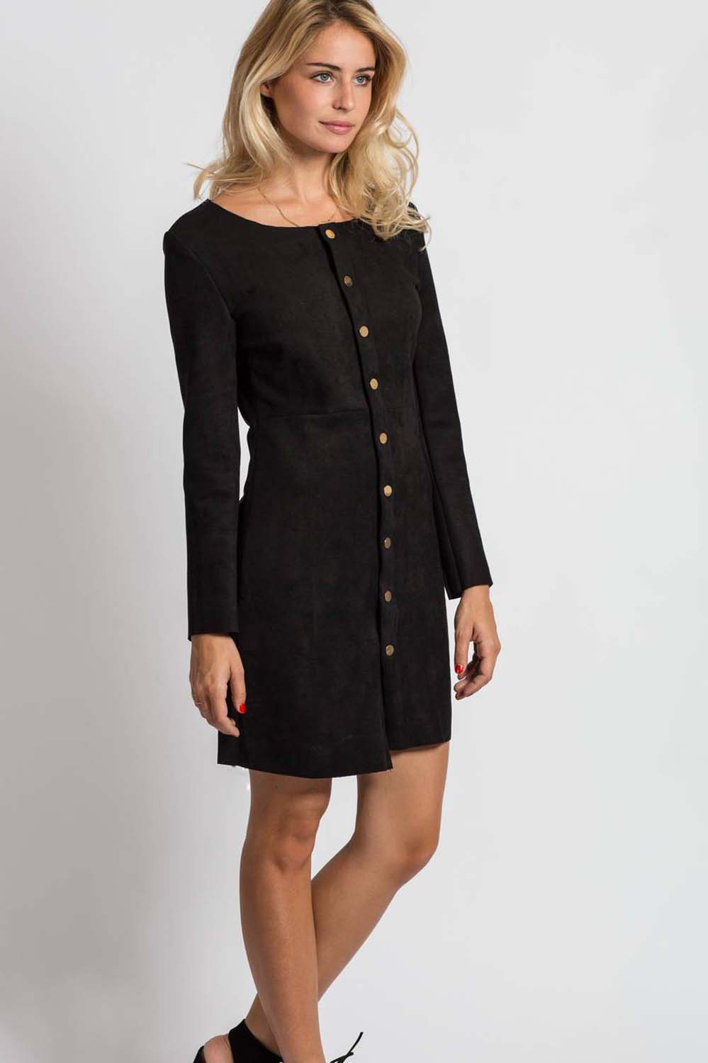 Suede Buttons Dress ρουχα