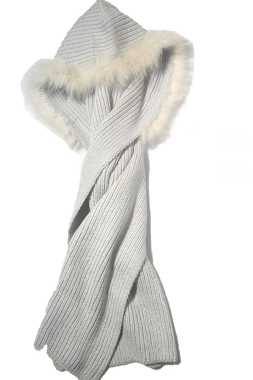 Hooded Fur Scarf αξεσουαρ   κασκόλ